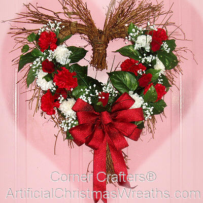 "HEART OF ROSES WREATH (Size app. 20"" x 22"")"