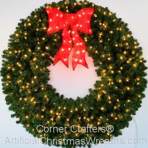 60 INCH L.E.D. LIGHTED CHRISTMAS WREATH   CornerCrafters.com ...