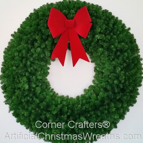 5 Foot (60 inch) Christmas Wreath (without lights) with Large Red Bow