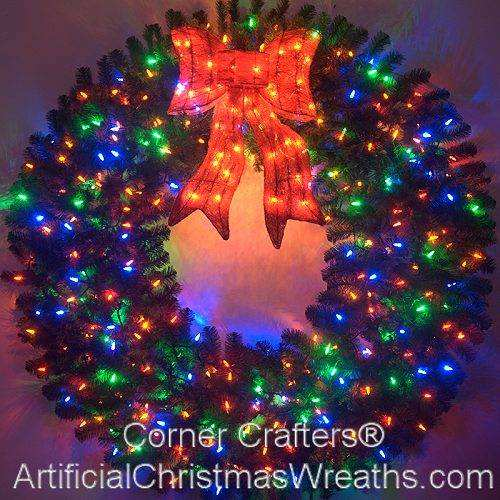 60 INCH COLOR CHANGING L.E.D. LIGHTED CHRISTMAS WREATH ...