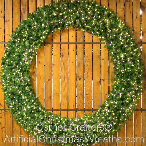 8 Foot (96 inch) L.E.D. Christmas Wreath
