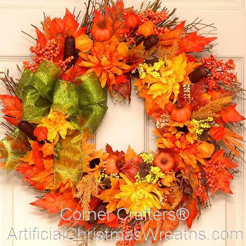 Autumn Splendor Thin Door Wreath Cornercrafters Com