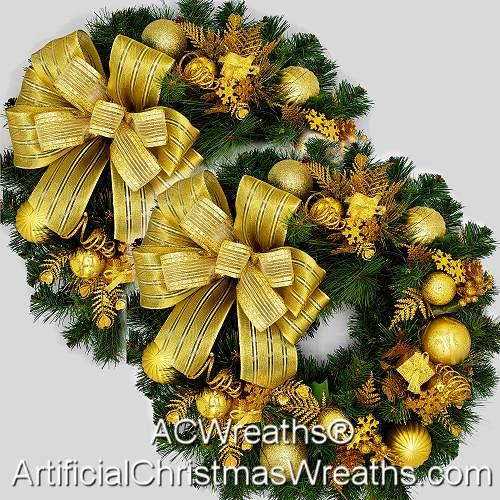 Golden Accent Wreaths