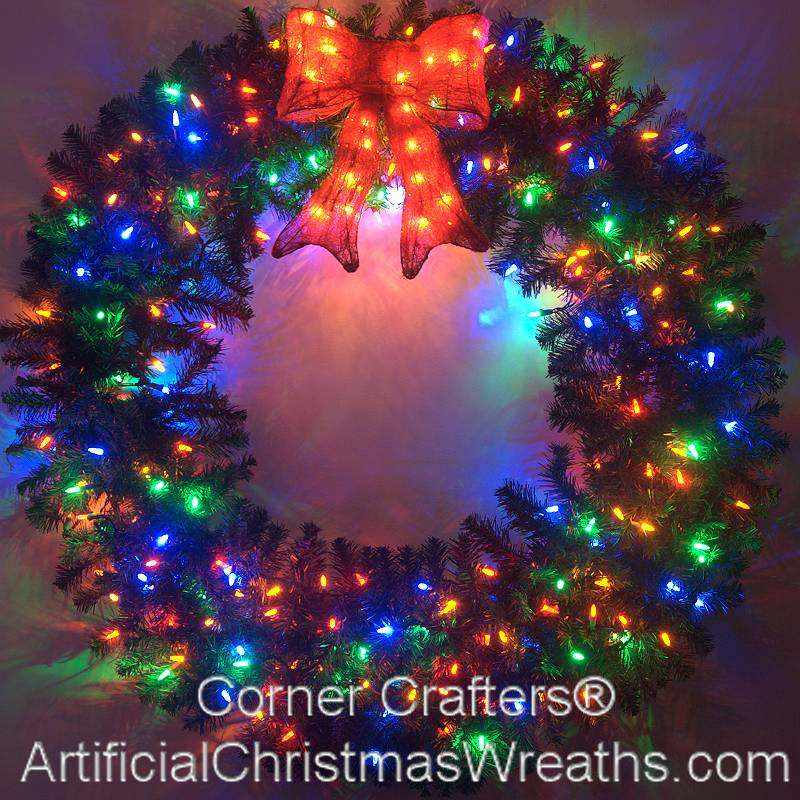 48 INCH DELUXE COLOR CHANGING LED LIGHTED CHRISTMAS WREATH ...