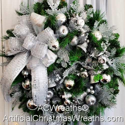 Silver Bells Christmas Wreath