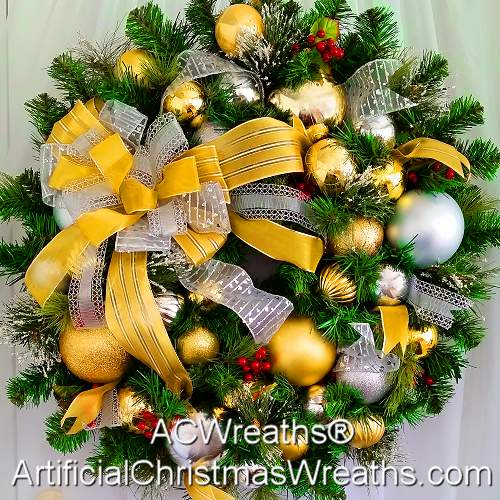 Silver and Gold Elegance Wreath