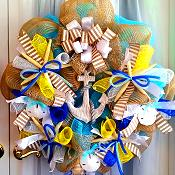 Deco Mesh Summer Wreath