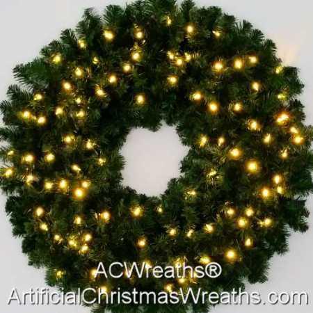 3 Foot (36 inch) L.E.D. Christmas Wreath
