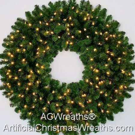 4 Foot (48 inch) L.E.D. Christmas Wreath