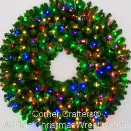 4 Foot (48 inch) Multi Color L.E.D. Christmas Wreath