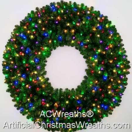 5 Foot (60 inch) Multi Color L.E.D. Christmas Wreath