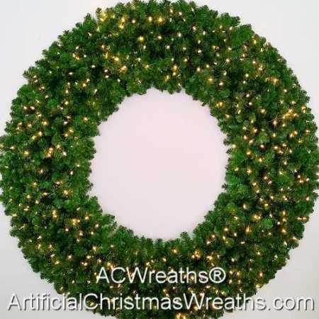 6 Foot (72 inch) L.E.D. Christmas Wreath