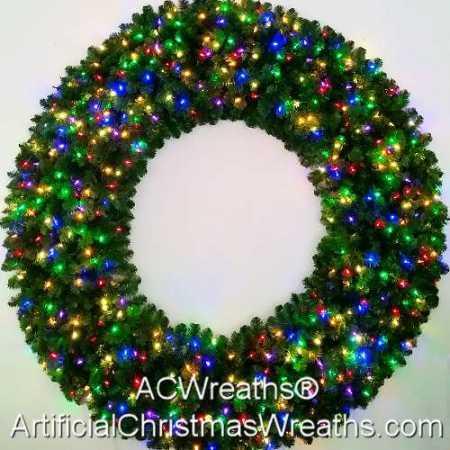 6 Foot (72 inch) Multi Color L.E.D. Christmas Wreath