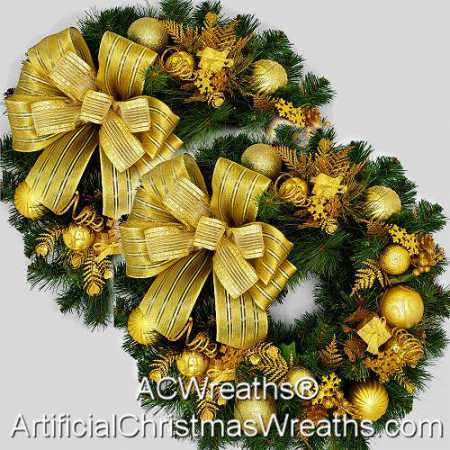 Golden Accent Wreaths