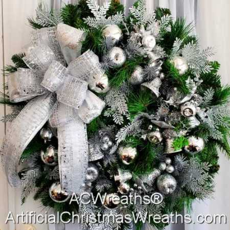 Silver Bells Christmas Wreath