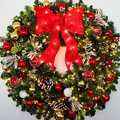 3 Foot (36 inch) LED Christmas Magic Wreath