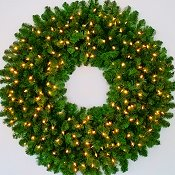 4 Foot (48 inch) L.E.D. Christmas Wreath