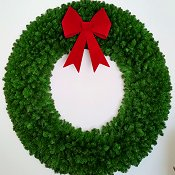 6 Foot (72 inch) Christmas Wreath (without lights) with Large Red Bow