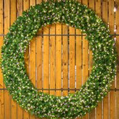 8 Foot (96 inch) L.E.D. Christmas Wreath