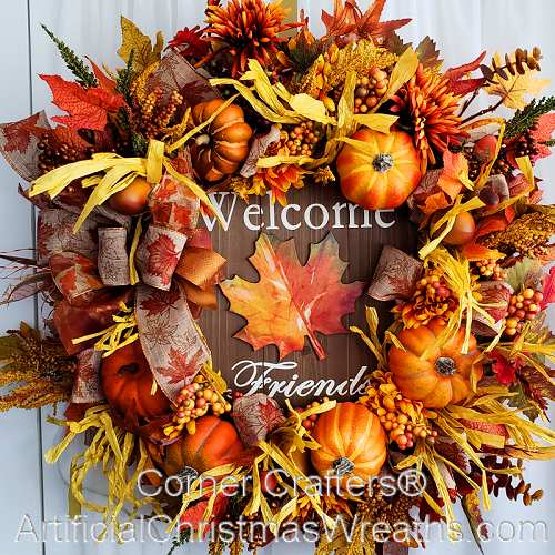 Lets Gather Together Fall Wreath Cornercrafters Com Fall
